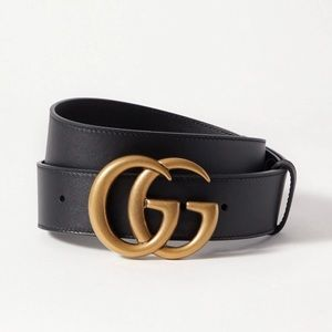 GUCCI  •  Double G Buckle Leather Belt